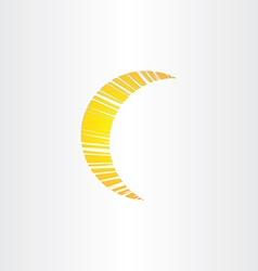 stylized moon icon design vector image