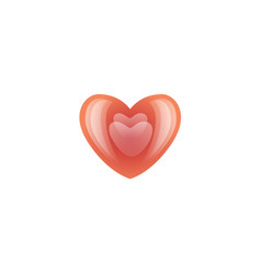 valentines day red heart icon vector image vector image