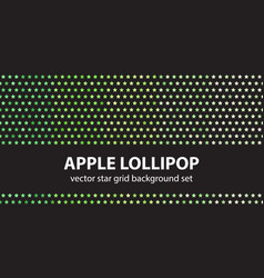 star pattern set apple lollipop seamless vector image