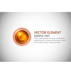 abstract center point red text vector image
