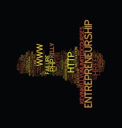 Entrepreneurship the failure myth text background vector