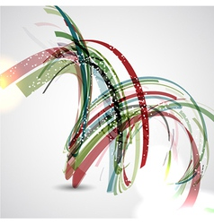 Abstract background with swirl design vector