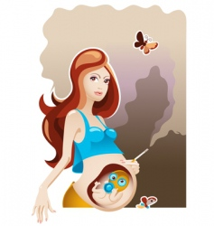 smoking and pregnancy vector image
