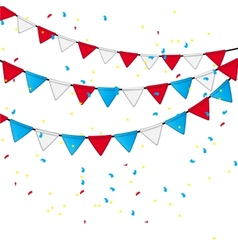 Party flag background  eps 10 vector
