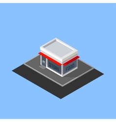 Isometric store building vector