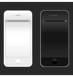 Brand new realistic mobile phone smartphone iphon vector