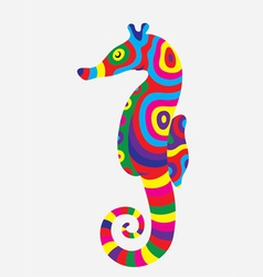 Sea horse colorfully vector