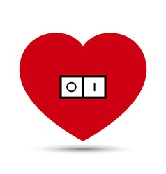 Love heart switch button vector