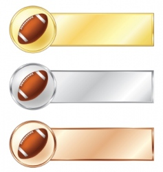 Football medals vector