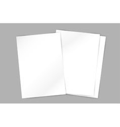 brochure blank template Abstract flyer vector image