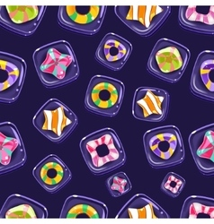Seamless background with colorful halloween vector
