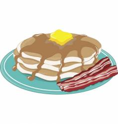 pancakes bacon vector image