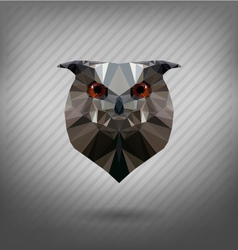 Abstract triangle polygonal owl vector