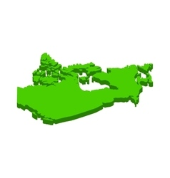 Canada map icon isometric 3d style vector