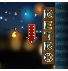Retro Lights Banner vector image