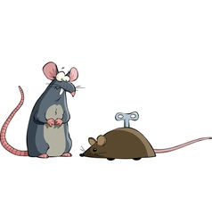two mouse vector image