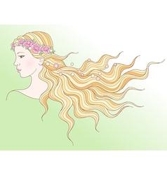 Beauty girl spring vector