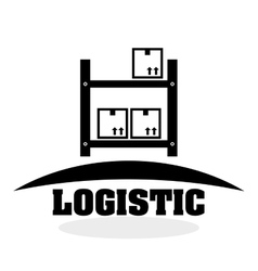Logistic design shipping and delivery conception vector