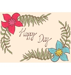 Happy day vintage colorful background with vector