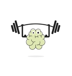 Brain training vecot icon vector