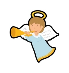 Angel icon merry christmas design graphic vector