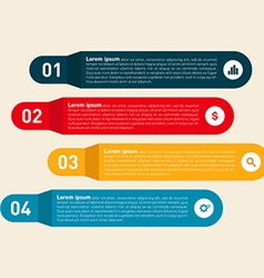 Infographics design element modern information vector image