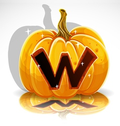 Halloween pumpkin w vector