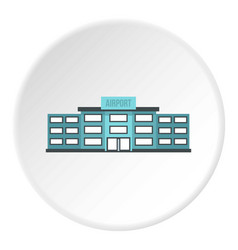 Airport building icon circle vector