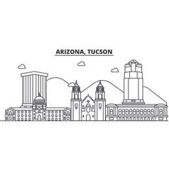 arizona tucson architecture line skyline vector image vector image