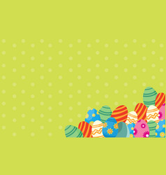 Art of easter with egg collection vector
