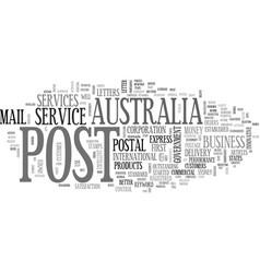 Australia post text word cloud concept vector