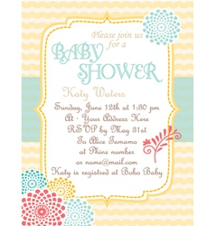 Baby-shower soft-waves vector