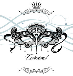 beautiful mask of lace symbol vector image vector image