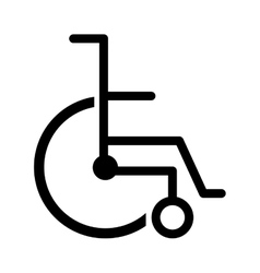 Black silhouette abstract wheelchair flat icon vector