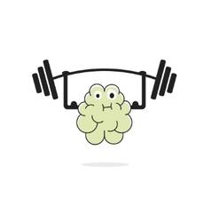 Brain training vecot icon vector