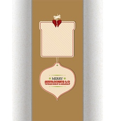 Christmas tags and copy space over brown panel vector