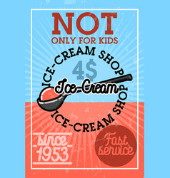 color vintage ice-cream banner vector image vector image