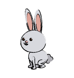 Cute rabbit cartoon sweet animal funny vector