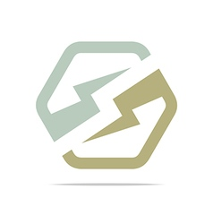 Electricity power icon design symbol logo abstract vector
