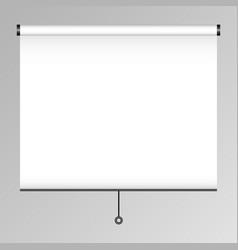 Empty projection screen presentation board blank vector