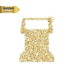 Gold glitter icon of terminal screen vector
