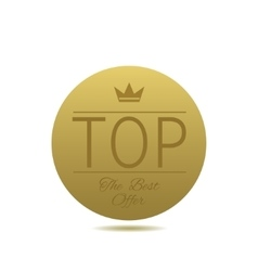 Golden TOP label vector image