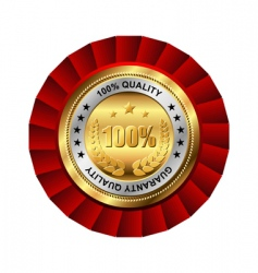 guaranty quality golden label vector image vector image