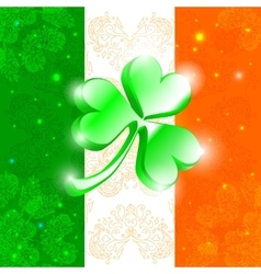 Happy Patrick day flag vector image vector image