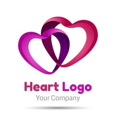 heart symbol icon design template elements Volume vector image