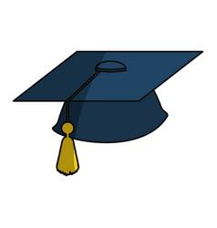 Isolated graduation cap vector