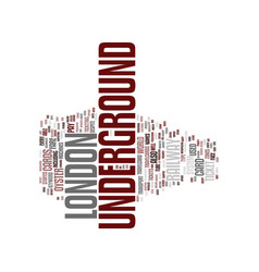 London underground text background word cloud vector