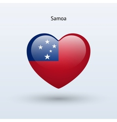 Love samoa symbol heart flag icon vector