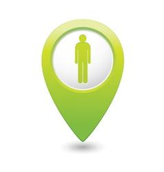 Man green map pointer vector