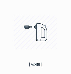 mixer outline icon isolated vector image vector image